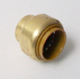 Brass Push Fit 22mm Pipe Stop End Cap - 27612200